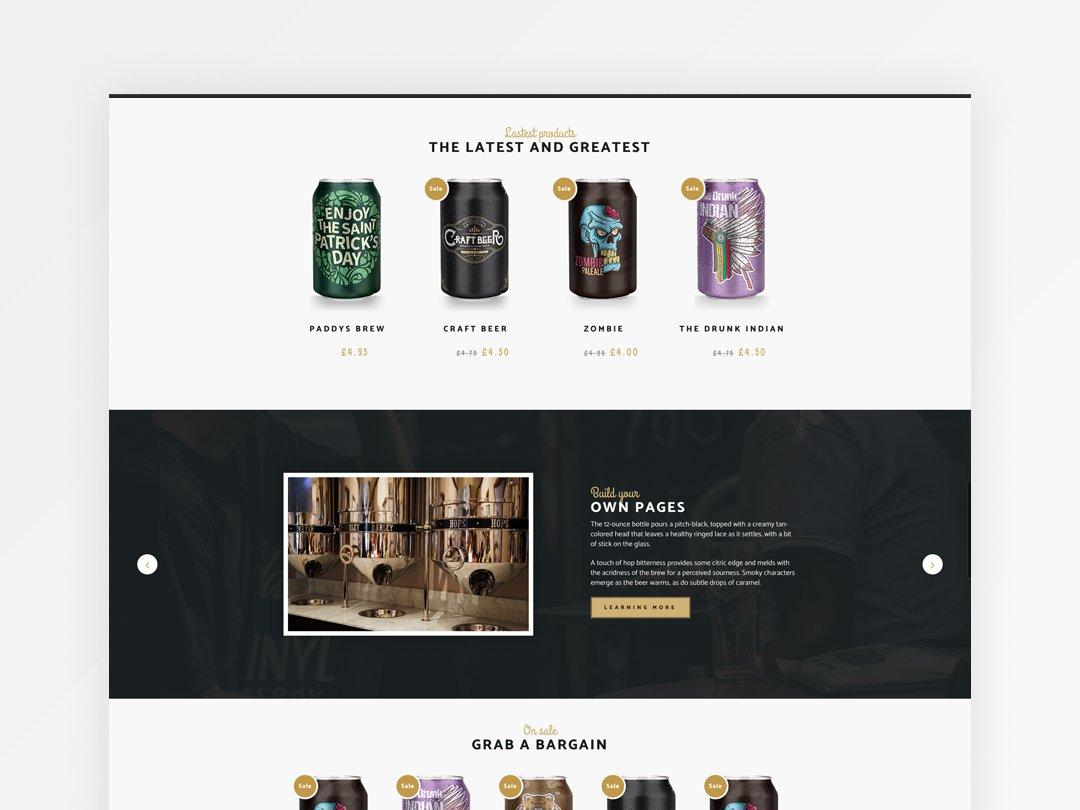 Craft beer website design