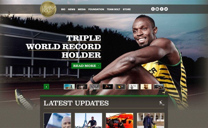 Usain Bolt WordPress Website