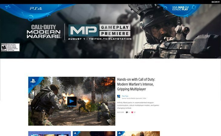 PlayStation Blog WordPress Website